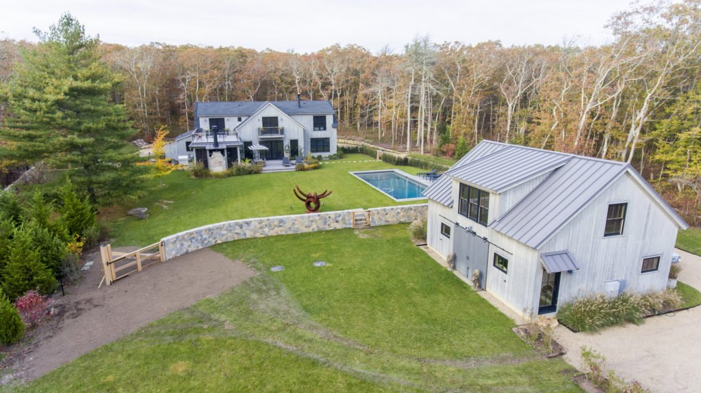 Aerial of Home and Barn