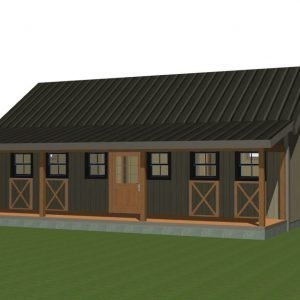Yankee Barn Small House Plan