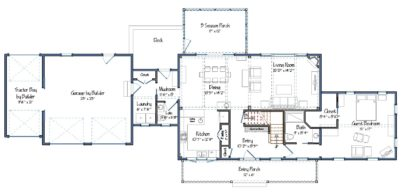 Clare Farmhouse Floor Plan