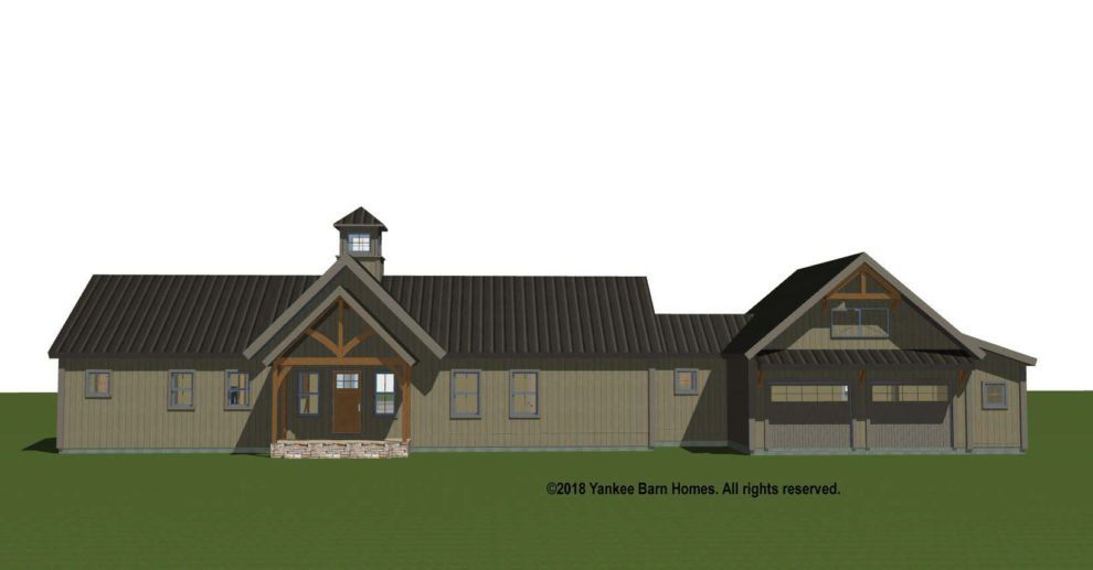 Hybrid Post and Beam Single Level House Plan North Point