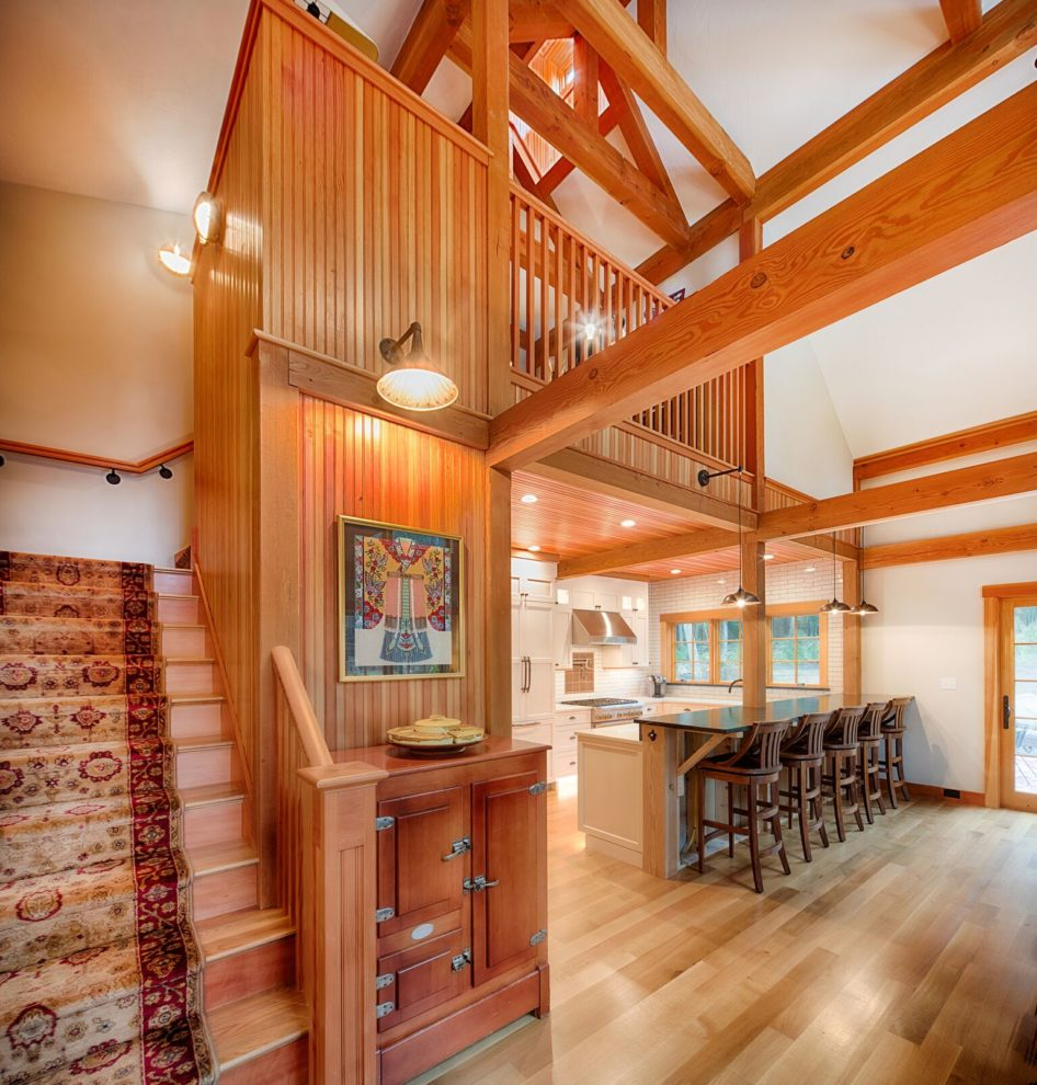 Barn Home: Small Post And Beam Home Walden Pond Is Finished Small