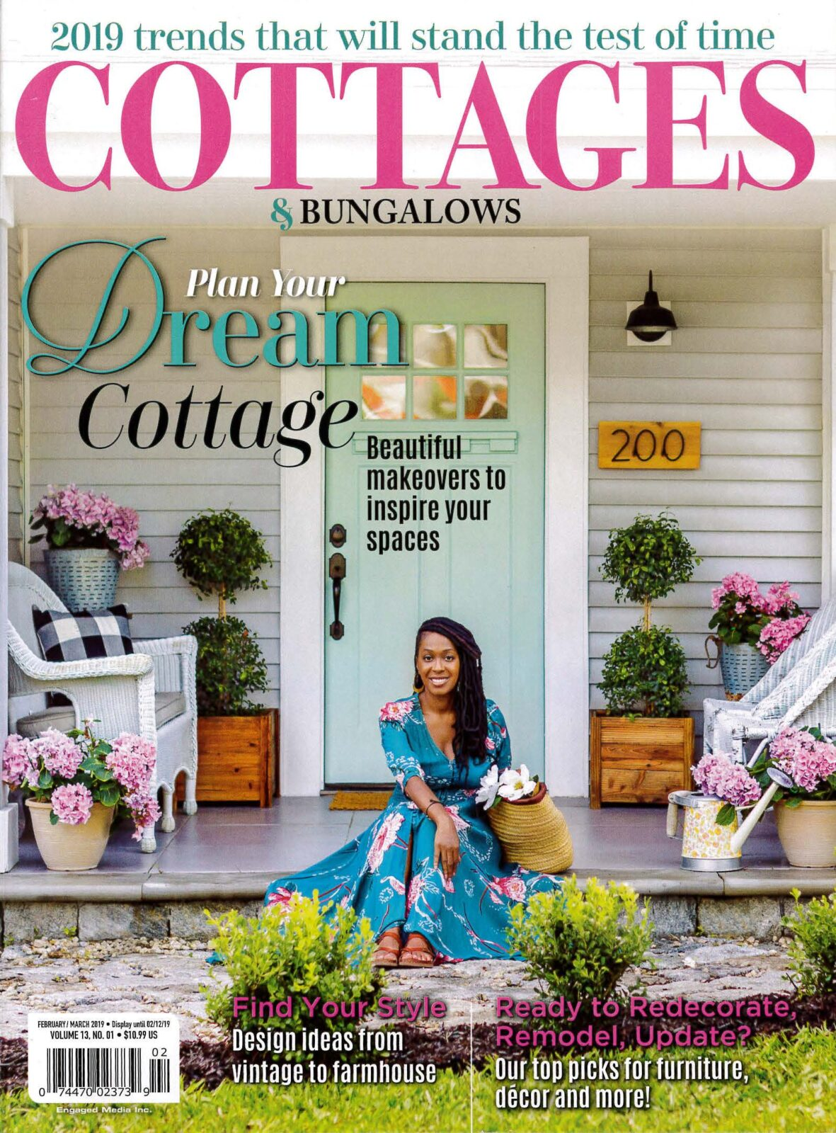 Feb/March 2019 Cover of Cottages and Bungalows
